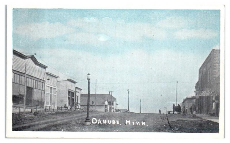 Early 1900s Danube, MN, Garage Auto Livery Postcard