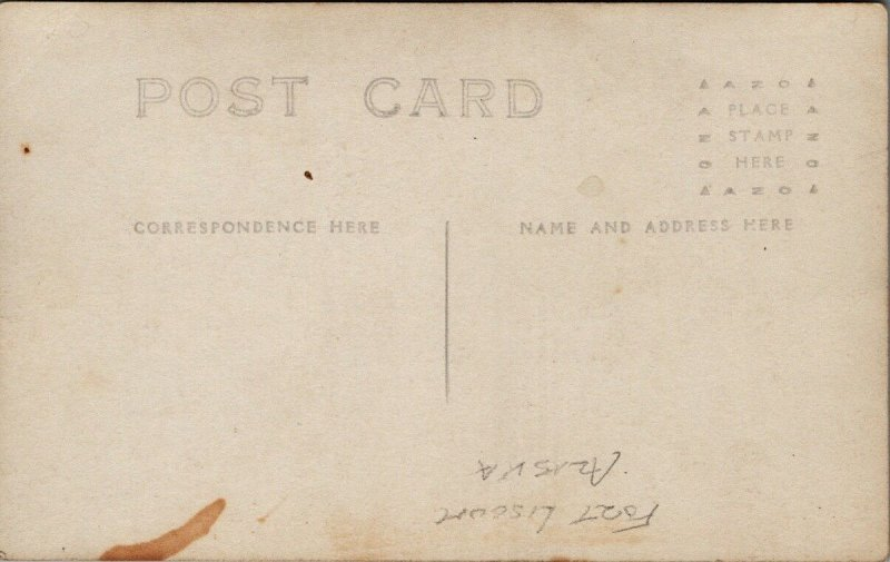 Fort Liscum AK (spelling error) Valdez Alaska Unused Real Photo Postcard G51