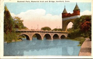 Connecticut Hartford Bushnell Park Memorial Arch and Bridge 1923