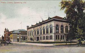 Public Library, Galesburg, Illinois, PU-1907