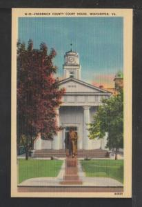 Frederick County Court House,Winchester,VA Postcard