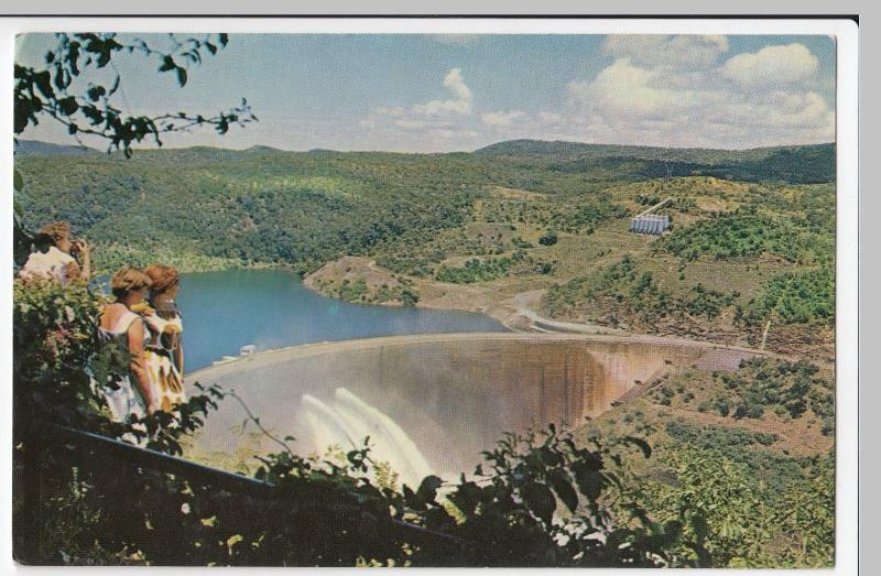 Gambia; Kariba Dam With Floodgates Open PPC, Unposted, c 1970's