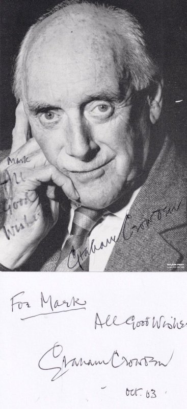 Graham Crowden Waiting For God James Bond DOUBLE Hand Signed Photo