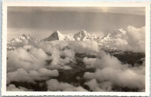 Vintage SWITZERLAND Real Photo RPPC Postcard Eiger, Monch & Jungfrau Mountains