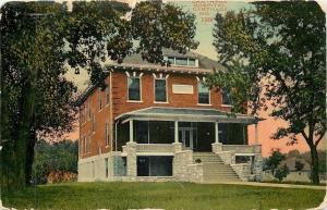 Carthage Missouri~Hospital~2 Story Brick House~1914 Postcard