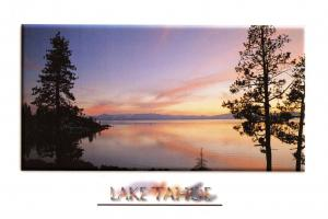 Postcard 1998 Sunset over Lake Tahoe, Nevada, California, USA, United States J52