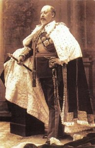 Nostalgia Postcard King Edward VII 1902 In Coronation Robes Repro Card NS1