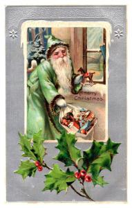 Santa Claus , Green Suit ,