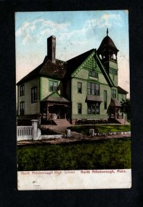 MA North Attleborough High School Mass Massachusetts Postcard UDB