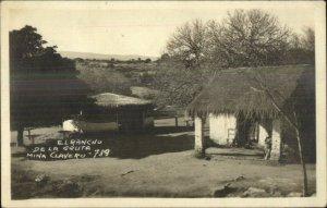 Argentina El Rancho De La Gruta Mina Clavero Real Photo Postcard