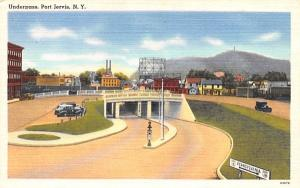 Underpass Port Jervis, New York Postcard