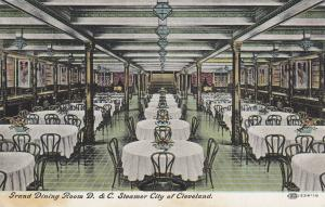 D.&C. Steamer City of CLEVELAND , 00-10s ; Grand Dining Room