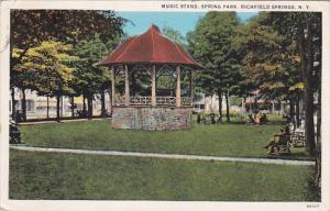 Music Stand, Spring Park, Richfield Springs, New York, PU-1937