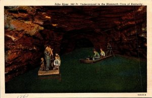 Vintage Postcard Echo River Underground Mammoth Cave Kentucky 1953 Unposted  209