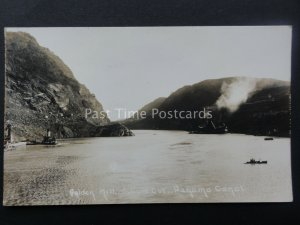 Central America THE PANAMA CANAL Golden Hill & Culebra Cut - Old RP Postcard