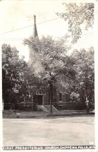Chippewa Falls Wisconsin~First Presbyterian Church~c1950 Real Photo Postcard