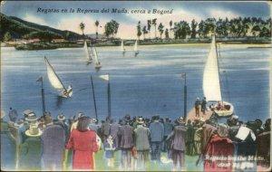 Bogota Colombia Regatas en la Represa del Muna Used Postcard