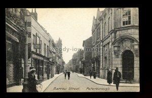 TQ3664 - Bank on the corner of Narrow St. Peterborough c1905 - printed postcard
