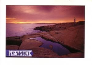 Lighthouse at Sunset, Peggy's Cove, Nova Scotia,