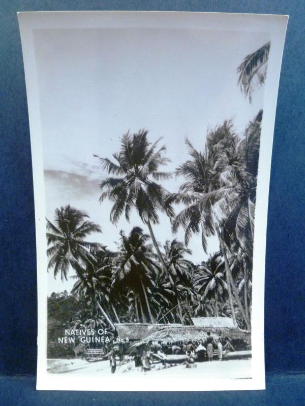 Postcard New Guinea Grogan RPPC Real Photo WW2 Natives of New Guinea