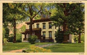 VA - Danville. Confederate Memorial Library, last capitol of the Confederacy