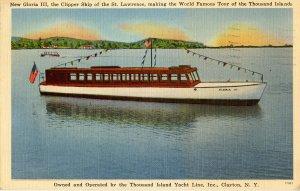 NY - Thousand Islands. Clipper Ship Gloria III