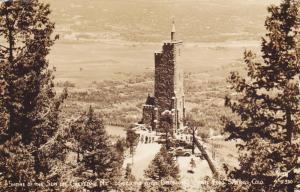 RP, Shrine Of The Sun On Cheyenne Mt. Towering Over Broadmoor & Colorado Spri...
