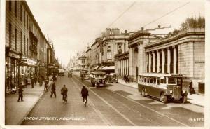 UK - Scotland. Aberdeen, Union Street  *RPPC