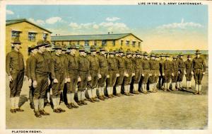 U.S. Military, WWI. U.S. Army, Platoon Front