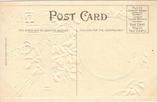 Snowdrop Galianthus Flowers Easter Greeting Vintage Postcard