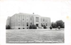 McLeansboro Illinois~Hamilton County Court House~Bushes on Front Lawn~1967 RPPC