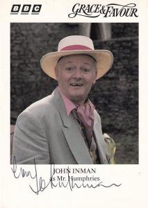 John Inman Grace & Favour Rare BBC Hand Signed Cast Card Photo