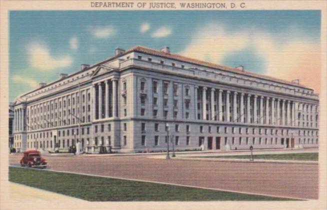 Washington D C Department Of Justice