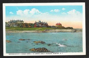Jones, Drexel & Pearson Residences Newport RI unused c1920s