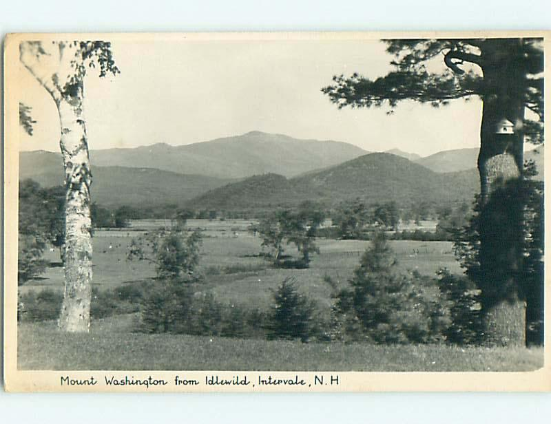 1940 rppc MOUNT WASHINGTON FROM IDLEWOOD HOTEL Intervale New Hampshire NH t2210