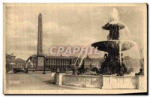 Old Postcard Paris Concorde Square