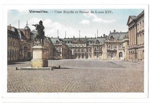 France Versailles Cour Royale Statue Louis XIV Postcard