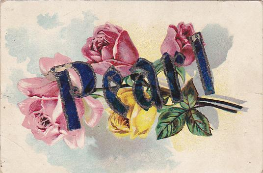 Large Letter PEARL, Rose Flowers, 00-10s
