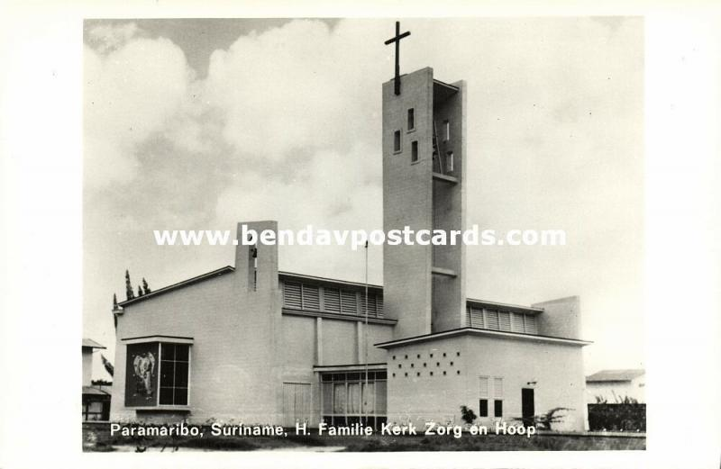 suriname, PARAMARIBO, Zorg en Hoop, Roman Catholic Church (1950s) RPPC
