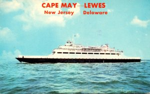 Delaware Lewes To Cape May New Jersey Passenger and Vehicle Ferry 1978