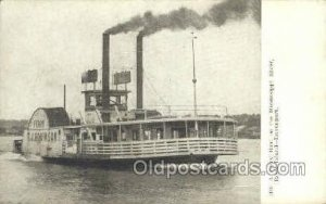 Ferry Boat Mississippi River, Davenport Steamboat, Ship Unused