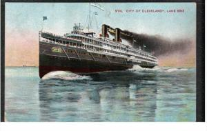CLEVELAND, Ohio, 1900-1910's; Str. City Of Cleveland, Lake Erie
