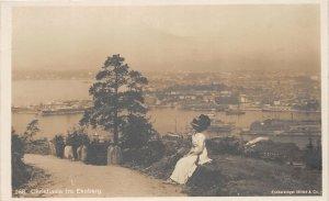 H78/ Ekeberg Norway Foreign RPPC Postcard c1910 Christiana Ships Woman  53