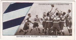 Cigarette Card Churchman WELL KNOWN TIES No 46 Barbarians Rugby Football Club