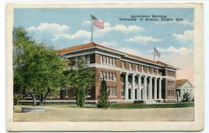 Agriculture Building University Arizona Tucson AZ 1920s postcard