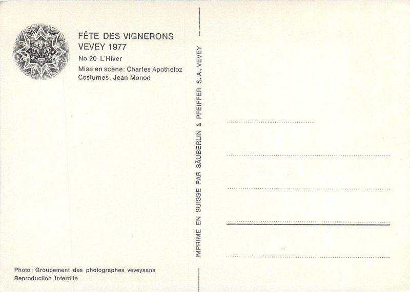 Postcard France Vevey winter fest