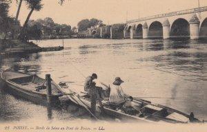 Poissy (Yvelines), France, 1900-1910s ; Bords de Seine au Pont de Poissy , Fi...