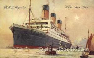 R.M.S. Majestic Cunard White Star Line Ship, Ships, Postcard Postcards  R.M.S...