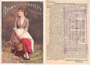 Victorian Trade Card Approx size inches = 3 x 4.5 Pre 1900 light indentation ...