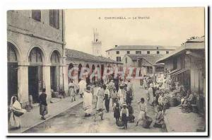 Algeria Cherchell Old Postcard The walk (very animated walk)